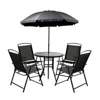 ALEKO Steel Indoor/Outdoor Patio Furniture Set with Umbrella 6-Piece