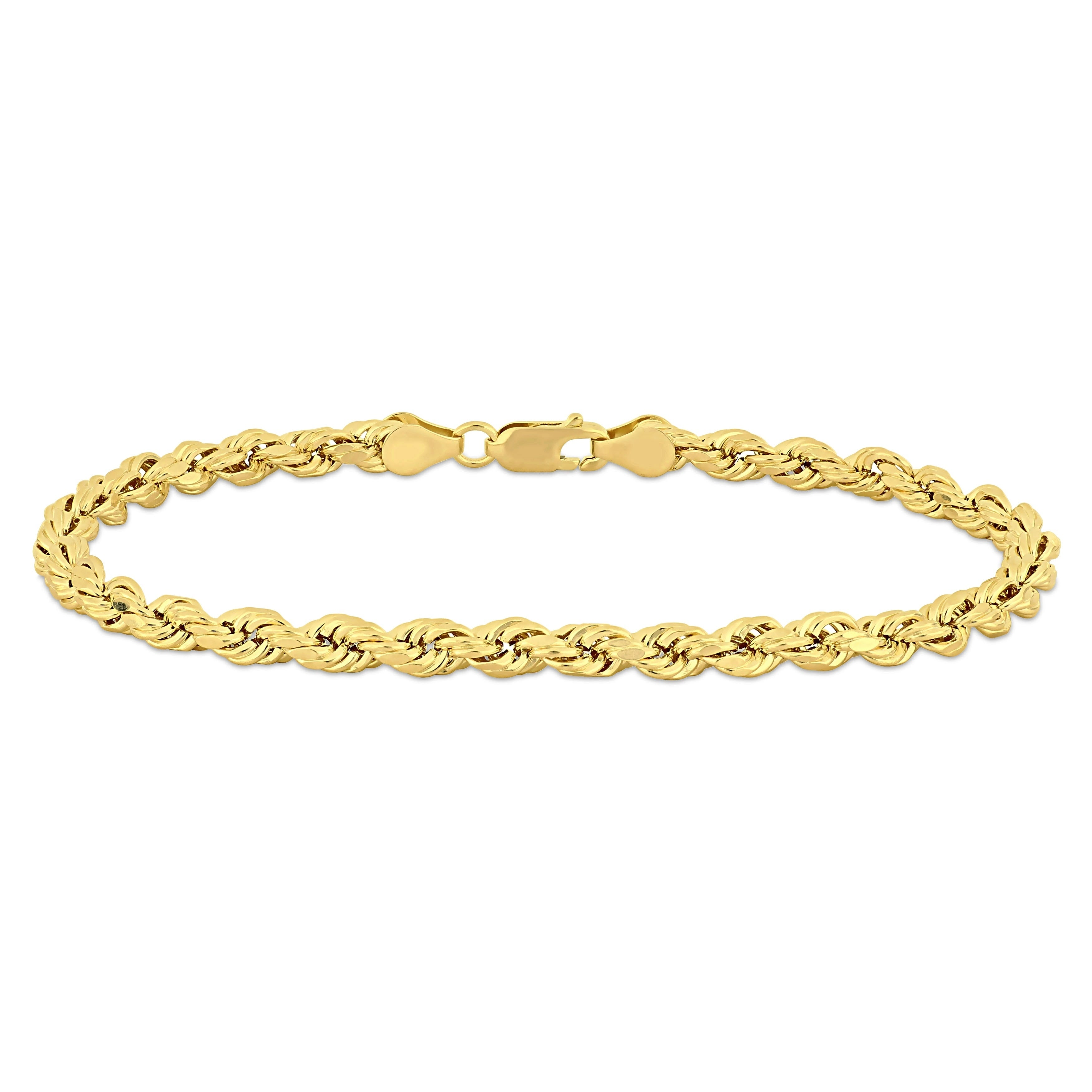 Yellow Gold Men S 9 Inch Rope Chain
