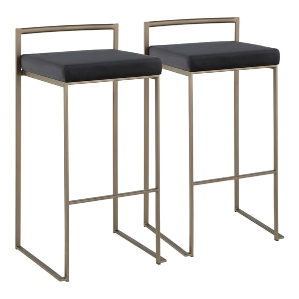 Carbon Loft Yadriel Industrial Stackable Antique Bar Stool (Set of 2)