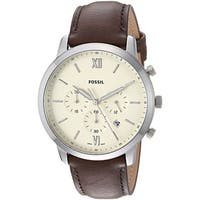 Fossil Men's  Neutra Chronograph Cream Dial Brown Leather Watch