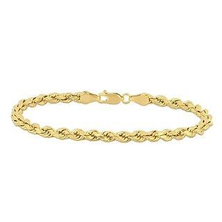 Miadora 14k Solid Yellow Gold 7.25 Inch Rope Chain Bracelet
