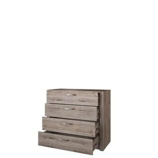 Virginia Natural Oak Finish 4-drawer Rustic Dresser