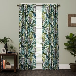 P Kaufmann Home Aruba Tropical Foliage Rod Pocket Curtain Panel (3 options available)