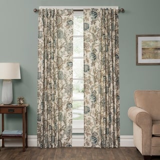 P Kaufmann Home Bronte Jacobean Sky Rod Pocket Curtain Panel (3 options available)