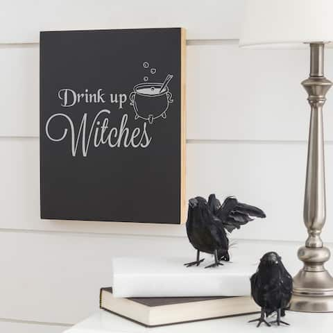 """Halloween """"Drink up Witches"""" Chalkboard - Black"""