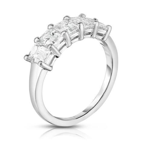 Noray Designs Platinum 5-Stone Emerald Cut Diamond (1.60 Ct, G Color, VS Clarity) Ring