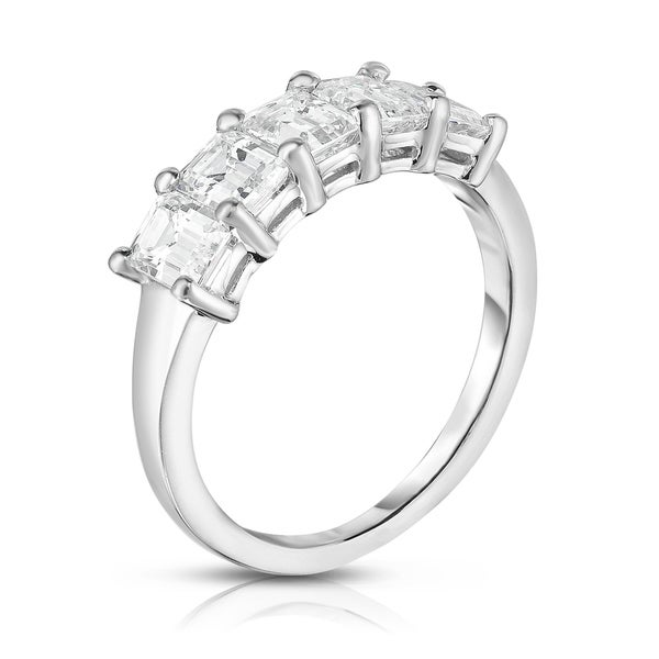 Noray Designs Platinum 5-Stone Emerald Cut Diamond (1.60 Ct, G Color, VS Clarity) Ring. Opens flyout.