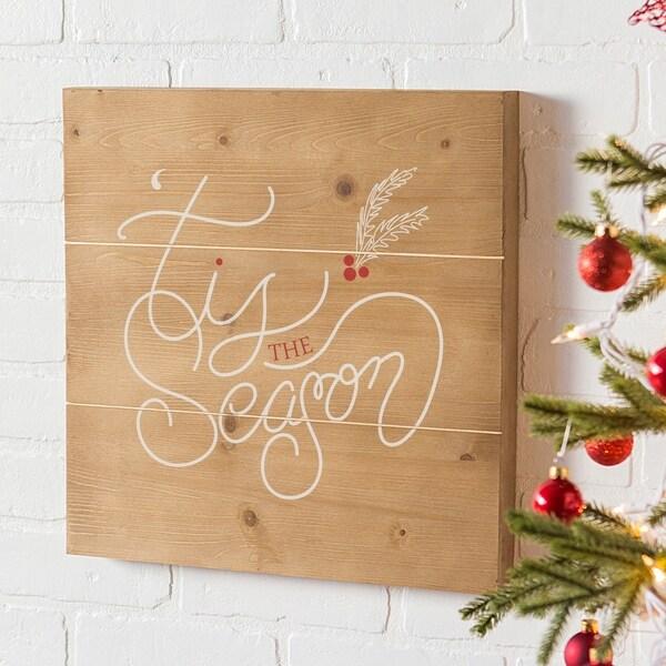2a2501ed01 Holiday Tis the Season Wooden Wall Art - Brown