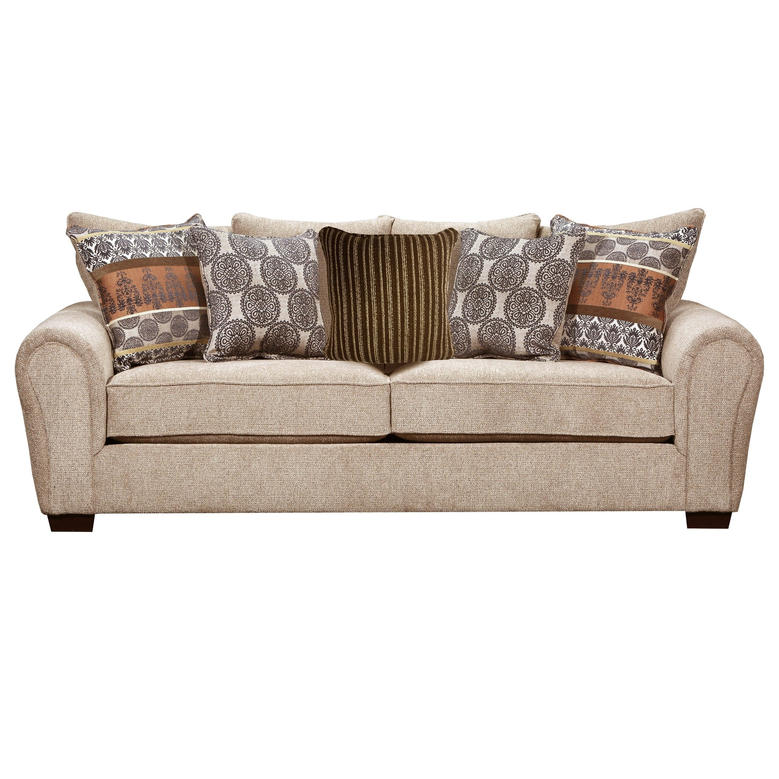 - Shop Lane Comfort Plush Outback Taupe Queen Sleeper Sofa