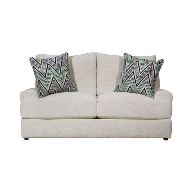 Shop Lane Luxe Seating Celine Parchment Loveseat Free Shipping