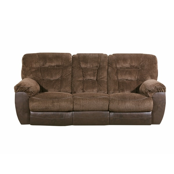 Strange Simmons Beautyrest Darcy Chocolate Reclining Sofa Pabps2019 Chair Design Images Pabps2019Com