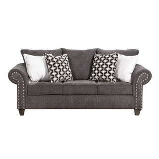 Simmons Upholstery Reed Charcoal Full Sleeper Sofa