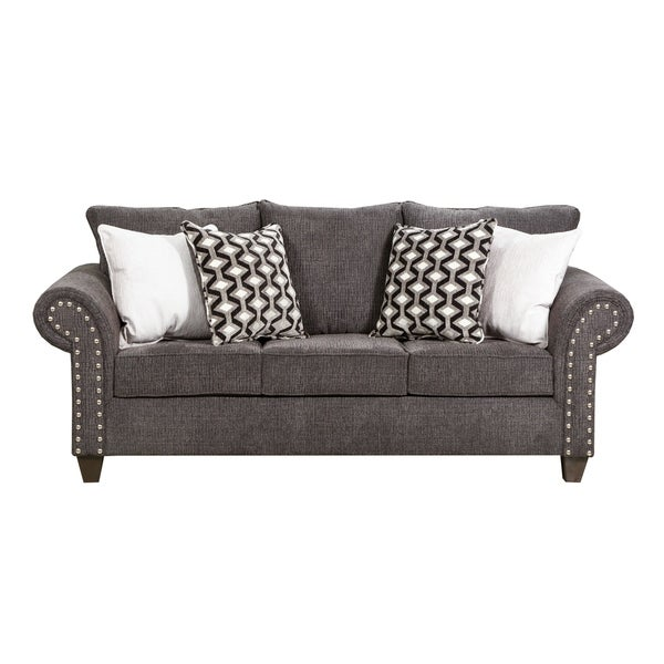 Simmons Sleeper Sofa: Shop Simmons Upholstery Reed Charcoal Full Sleeper Sofa