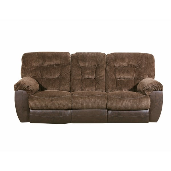 Simmons Beautyrest Darcy Chocolate Reclining Sofa Free Shipping Today 22231397