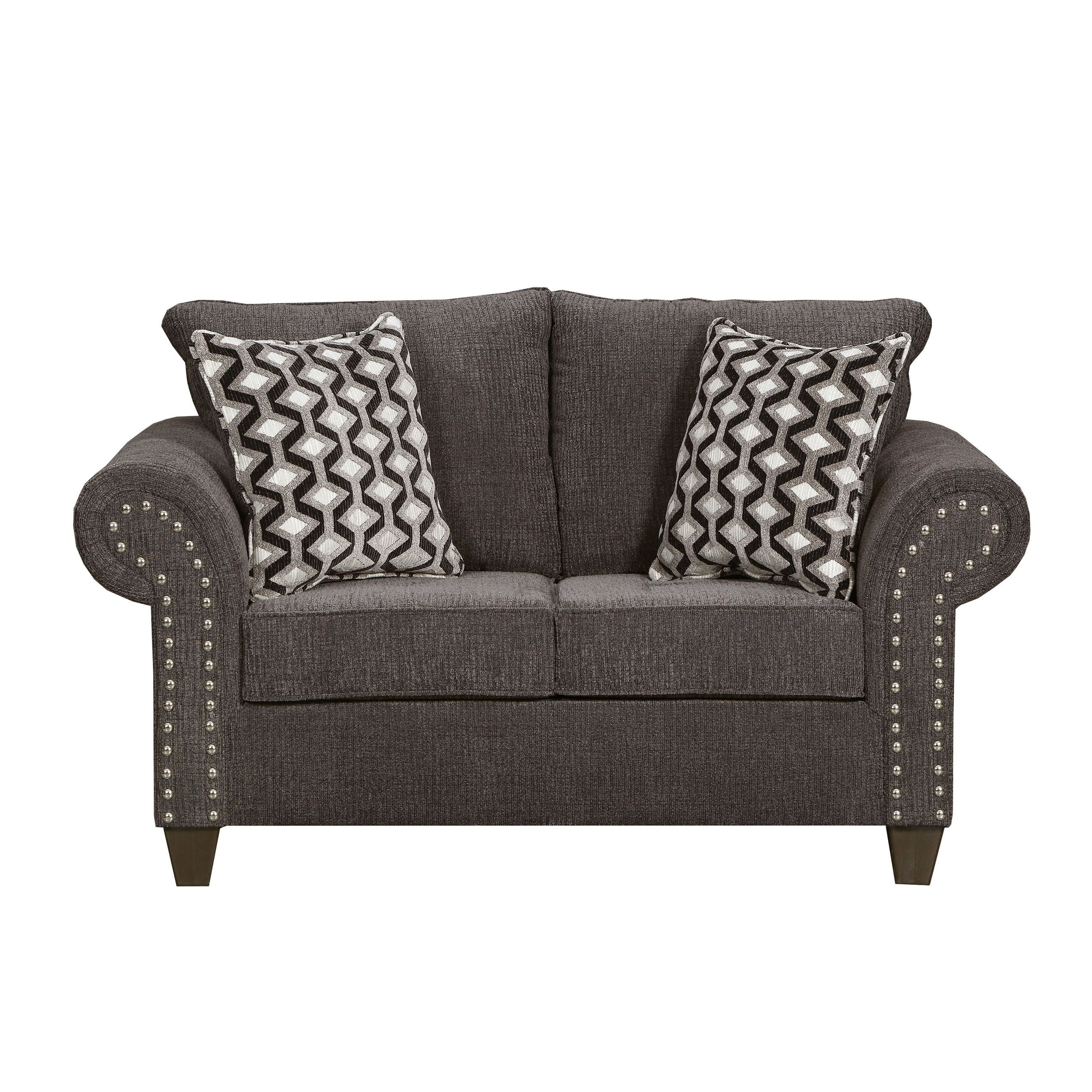 Pleasant Simmons Upholstery Reed Charcoal Loveseat Frankydiablos Diy Chair Ideas Frankydiabloscom