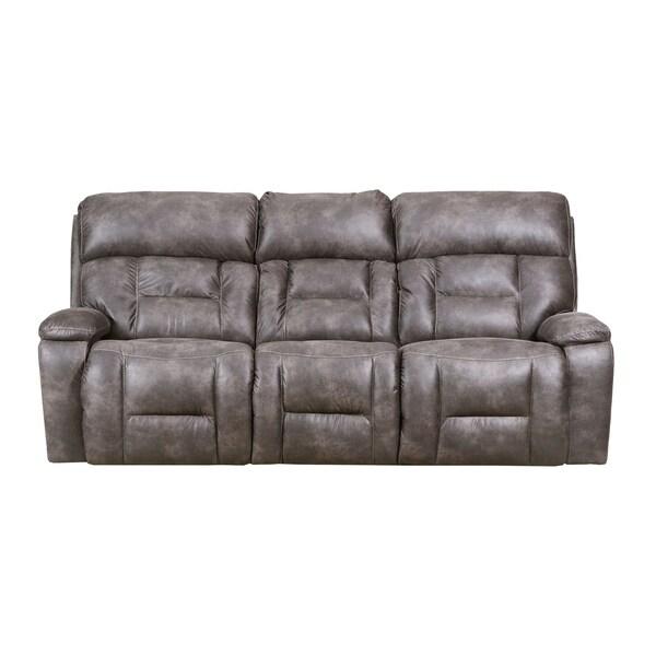 Simmons Beautyrest Dorado Charcoal Reclining Sofa