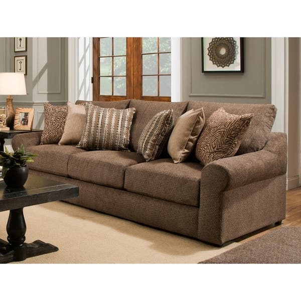 Astounding Lane Luxe Seating Bellamy Cocoa Sofa Pdpeps Interior Chair Design Pdpepsorg