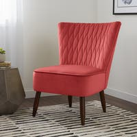 Shop Erena Fabric Channel Accent Chair By Christopher