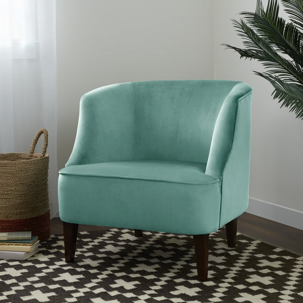 Shop Silver Orchid London Lounge Light Aqua Chair Free