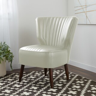 Stone and Stripes Mid-century Vette Modern White Leather
