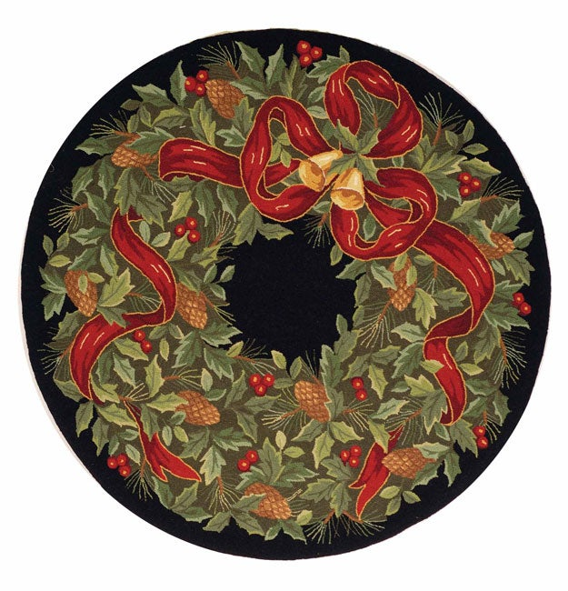 Safavieh Handmade Holiday Wreath Wool Rug (5' Round