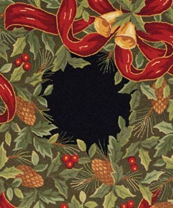 Safavieh Handmade Holiday Wreath Wool Rug (5' Round)