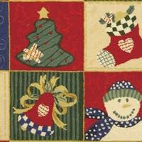 Safavieh Handmade Chelsea Country White / Multi Wool Rug - 6' x 9'