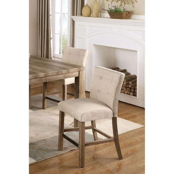Shop Best Master Furniture Weathered Oak Sleigh: Shop Best Master Furniture Light Beige Oak Rustic Padded