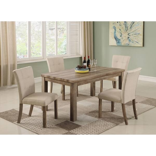 Shop Best Master Furniture Light Oak Rectangular Dining ...