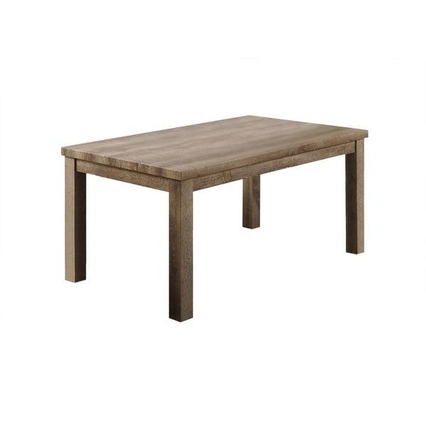 Shop Best Master Furniture Weathered Oak Sleigh: Shop Best Master Furniture Light Oak Rectangular Dining