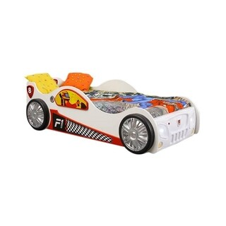 Monza Toddler Wood Finish Car Bed