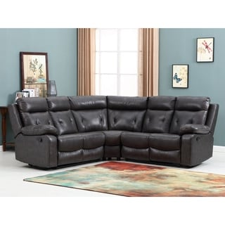 Shop Tonnie 3 Piece Grey Fabric And Faux Leather Reclining