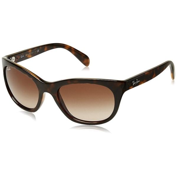 5c9cd7e64a3 Ray-Ban RB4216 Tortoise Frame Brown Gradient 56mm Lens Sunglasses