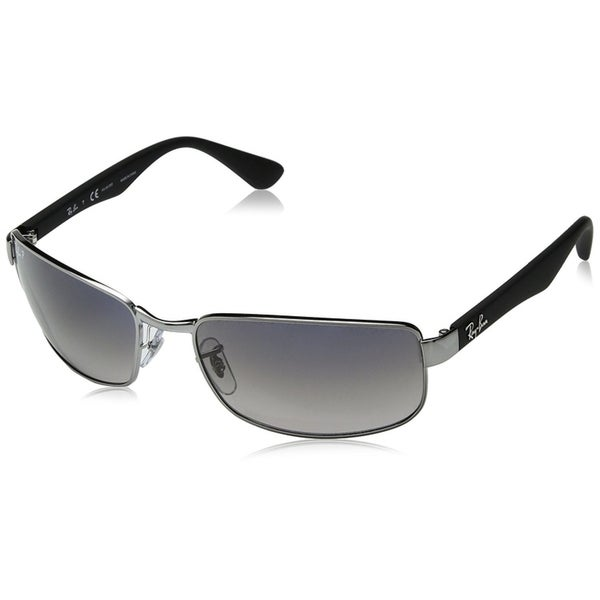 931eab83694 Ray-Ban RB3478 Gunmetal Frame Polarized Blue Grey Gradient 60mm Lens  Sunglasses