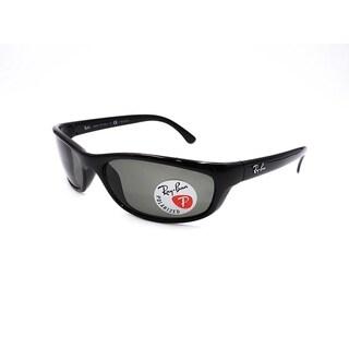 Ray-Ban RB4115 Black Frame Polarized Green 57mm Lens Sunglasses