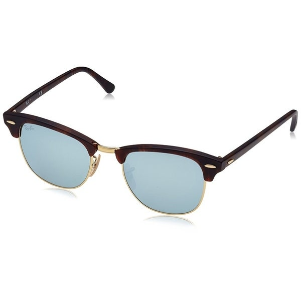 08a7ba8e2e Ray-Ban RB3016 Clubmaster Tortoise Frame Silver Mirror 51mm Lens Sunglasses