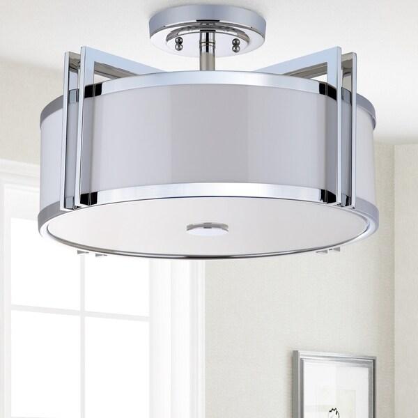 Shop Safavieh Lighting 17 125 Inch Orb Drum Ceiling Light