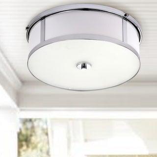 Safavieh Lighting 17-inch Avery Ceiling Drum Light - Chrome