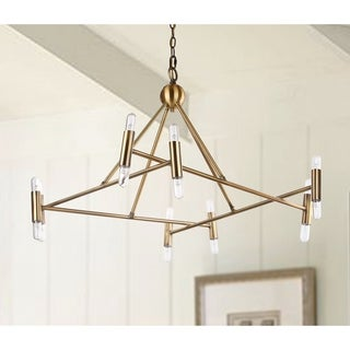 Safavieh Lighting Hegarty Adjustable 16-light LED Gold Chandelier