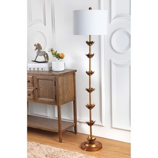 Safavieh Lighting 63.5-inch Landen Leaf Floor Lamp - Gold