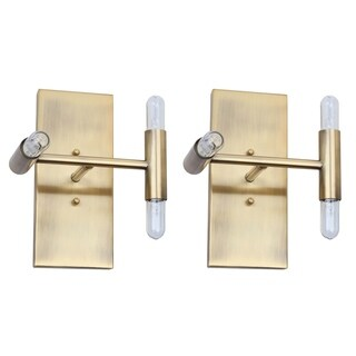 Safavieh Lighting 8-inch Edana Wall Sconce - Gold (Set of 2)