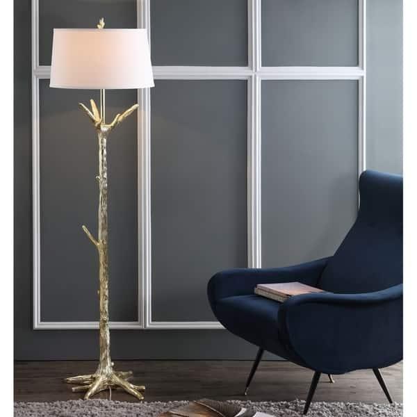 65 Inch Thornton Gold Led Floor Lamp