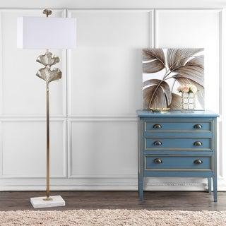 Safavieh Lighting 69-inch Tala Ginkgo Leaf Floor Lamp - Gold