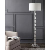 Safavieh Lighting 64-inch Elodie Metal Ring Floor Lamp - Silver