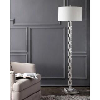 Safavieh Lighting 64-inch Elodie Metal Ring Floor Lamp - Silver