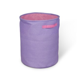 Hamper - Purple with Pink Lining and Handles