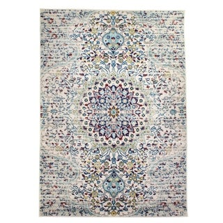 The Curated Nomad Donovan Medallion Vintage Distressed Area Rug - 8' x 10'