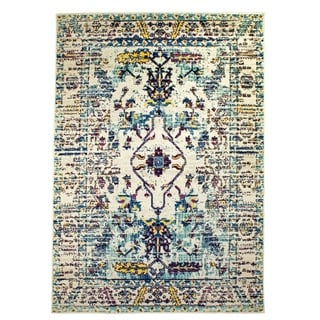 The Curated Nomad Donovan Ivory Tabriz Vintage Distressed Area Rug - 8' x 10'