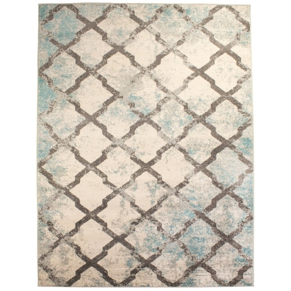 """Mohali Vintage Distressed Area Rug in Ivory, 5' 2"""" x 7' 6"""" - 5'2 x 7'6"""