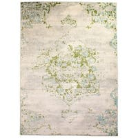 Mohali Vintage Distressed Area Rug in Ivory - 8' x 10'
